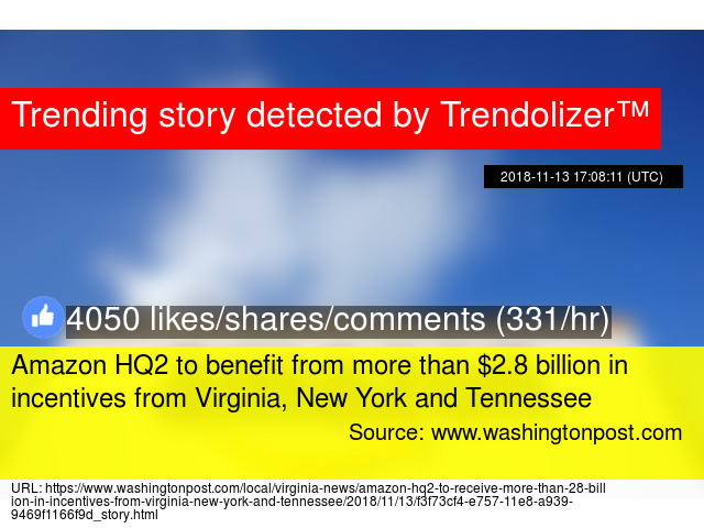 Amazon HQ2 to benefit from more than $2 8 billion in