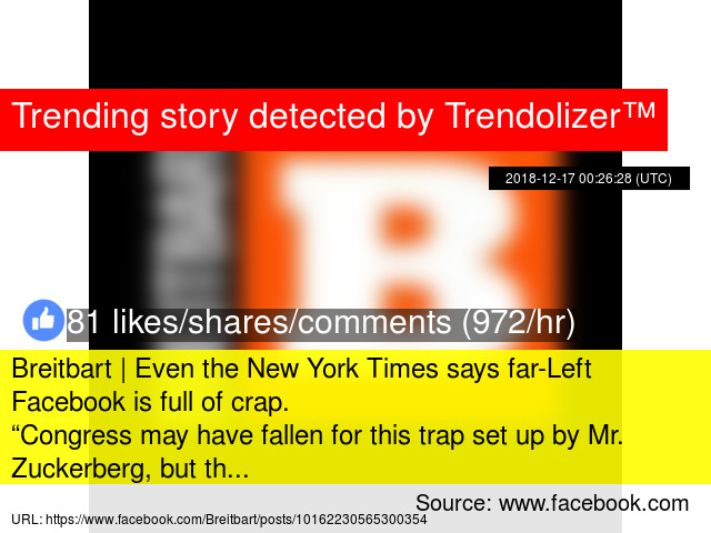Breitbart | Even the New York Times says far-Left Facebook is full