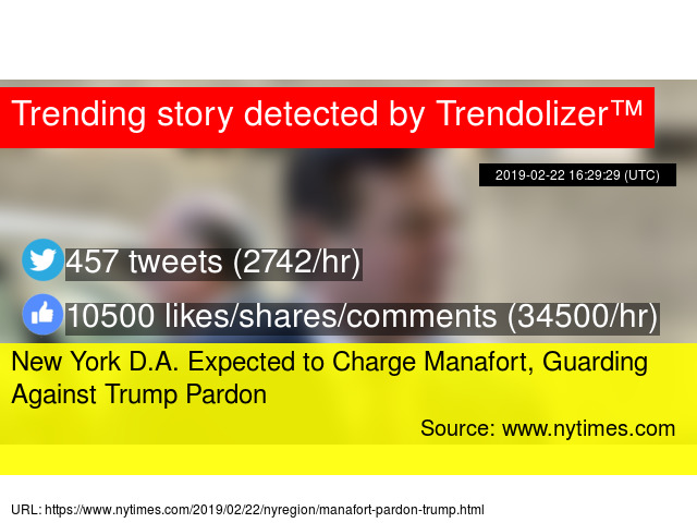 New York D A  Expected to Charge Manafort, Guarding Against