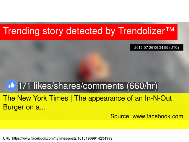 The New York Times | The appearance of an In-N-Out Burger on