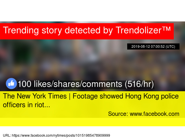 The New York Times | Footage showed Hong Kong police officers in riot