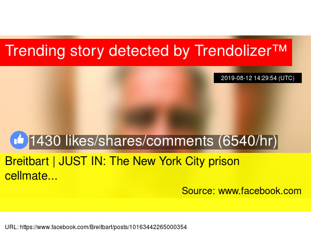 Breitbart | JUST IN: The New York City prison cellmate