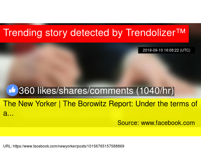 The New Yorker | The Borowitz Report: Under the terms of a