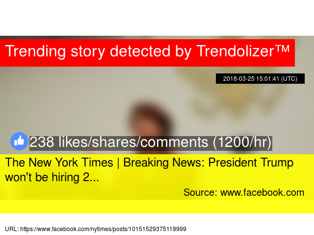 the new york times breaking news president trump won 039 t be