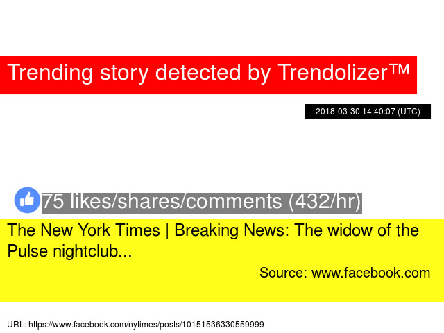 the new york times breaking news the widow of the pulse nightclub