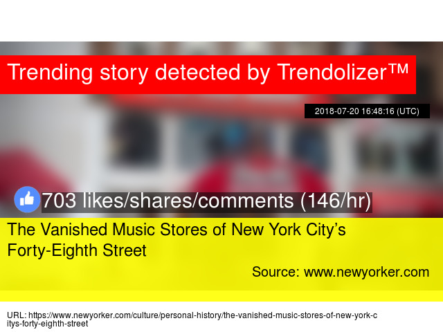 The Vanished Music Stores of New York City's Forty-Eighth Street